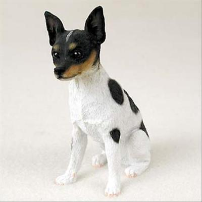 Rat Terrier Dog Hand Painted Canine Collectable Figurine Statue