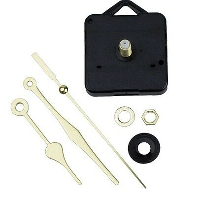 Long Shaft Gold Hands Wall Quartz Clock Movement Mechanism Repair Kits US seller