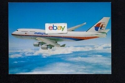 Malaysia Airways Boeing 747-400 Airline Issue Postcard