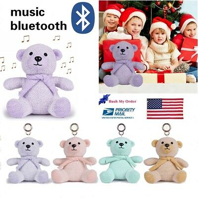 Portable Bluetooth Speaker Wireless Teddy Bear Pet Toy for Kids Birthday Gift TF