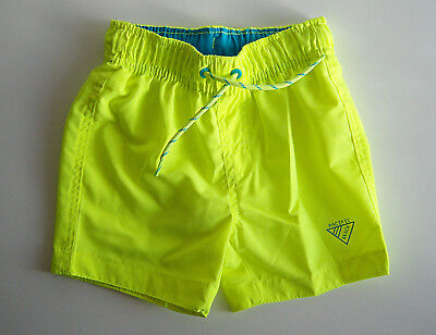 Boys New Swimming Shorts Fluorescent Yellow Size 2-3 years Quick Dry Trunks