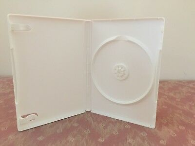 20 Premium White Single DVD Cases, Standard 14mm, with wrap around sleeve, NEW!