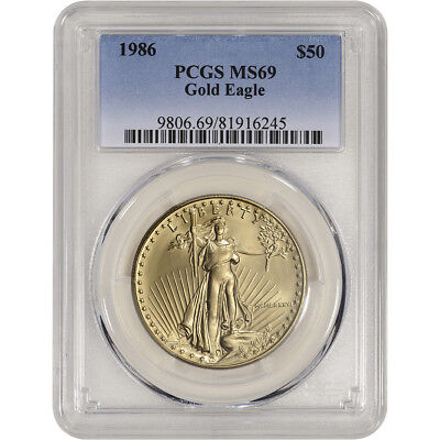 1986 American Gold Eagle (1 oz) $50 - PCGS MS69
