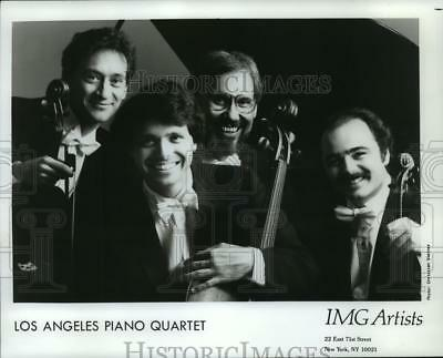 1990 Press Photo Four Members of the Los Angeles Piano Quartet - spp50058