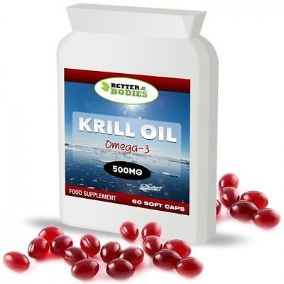 60 Capsules RED Krill Oil SUPERBA EXTRA STRENGTH 500mg Made In UK