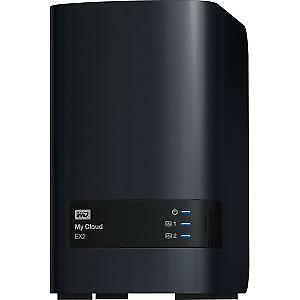 NEW! Wd My Cloud Ex2 WDBVBZ0000NCH-EESN 2 X Total Bays Nas Storage System Tower