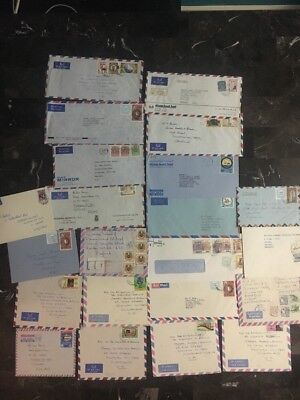 Lot of 22  Airmail Covers Bahrain Kuwait Collection