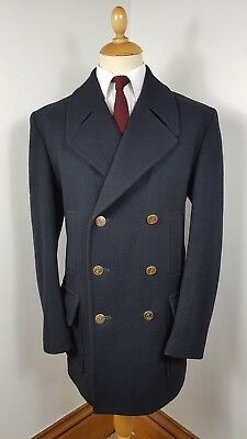 4326edc90 VINTAGE 1970'S GLOVERALL WOOL PEA COAT OVERCOAT REEFER JACKET LARGE 44  REGULAR