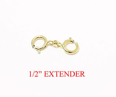 """1/2"""" 14k Yellow GOLD FILLED Round Link Extender Safety Chain Necklace Bracelet"""