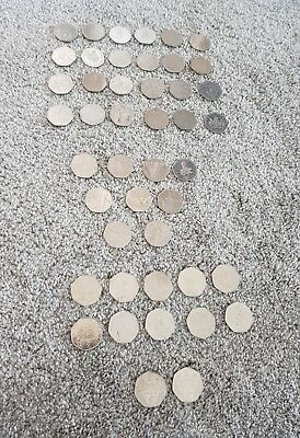 JOB LOT OF 49 RARE  BRITISH 50P PENCE COINS collectible Add to your collection