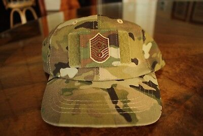 Usaf Us Air Force Multicam Ocp I/a E-9 ** Camouflage Combat Ballcap Ball Cap Hat