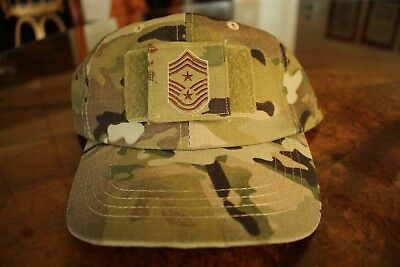 Usaf Us Air Force Multicam Ocp I/a E-9 * Camouflage Combat Ballcap Ball Cap Hat