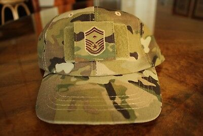 Usaf Us Air Force Multicam Ocp I/a E-8 +D Camouflage Combat Ballcap Ball Cap Hat