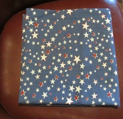 """Longaberger Patriotic 54"""" Fabric Square Tablecloth ~All American STARBURST NWT"""