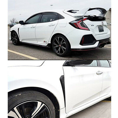 Type R Glossy Black Side Fender Vent Air Wing Cover Trim for new Civic 2016-18