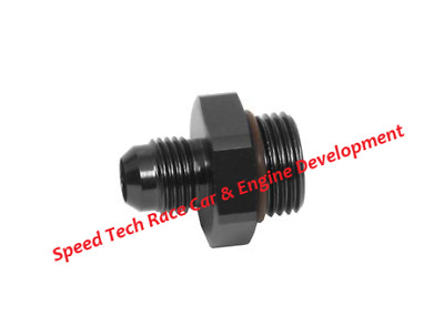 12AN to 12 ORB Fragola Black Radius Taper Port Adapter Fitting