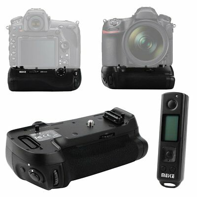 MEIKE Battery Grip Holder + 2.4GHz Wireless Remote Control For Nikon D850 Camera
