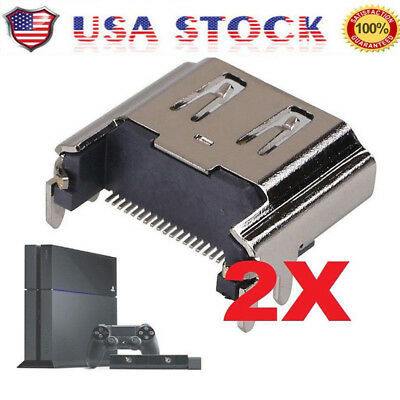 2pcs HDMI Port Connector Socket Replacement for Sony PlayStation4 PS4-Console