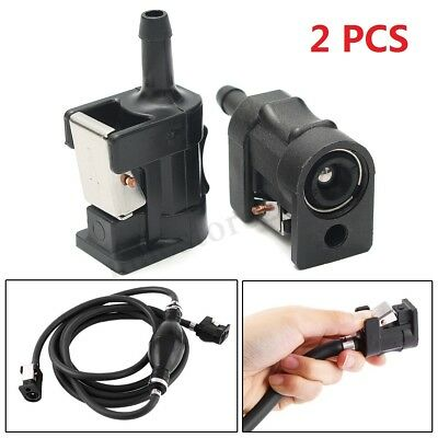 2Pcs Fuel Line Tank Connector For Yamaha Outboard Boat Engine 6mm(1/4'') Hose