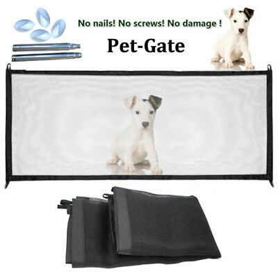 Mesh Magic Pet Dog Gate Barrier Safe Guard&Install Anywhere Pet Safety Enclosure