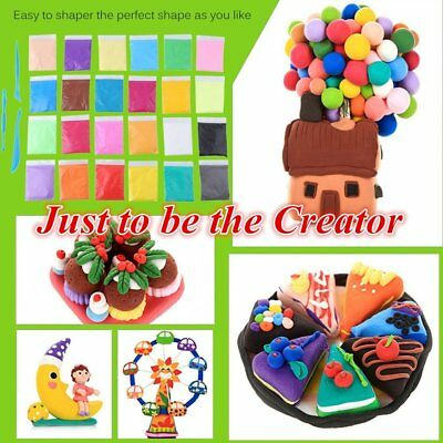 24colors 24pcs Kids Learning Soft Polymer Modelling DIY Polymer Clay Playdough W