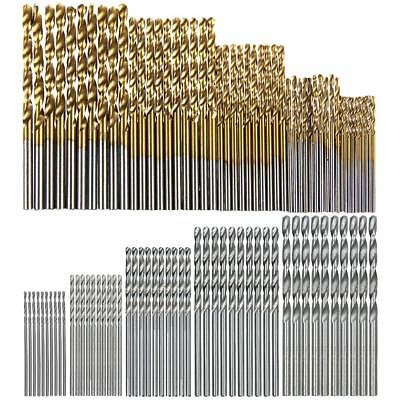 100pcs/Set Titanium Coated HSS High Speed Steel Twist Drill Bit 1/1.5/2/2.5/3mm