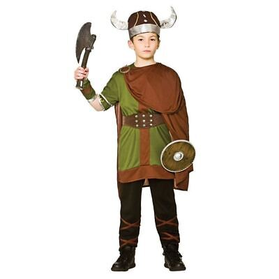 Boys Viking Warrior Costume Child Saxon Book Week Fancy Dress Outfit