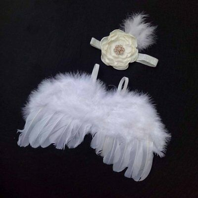 Newborn Photography Props Infant Baby Girls Angel Feather Wings Prop Wings FK