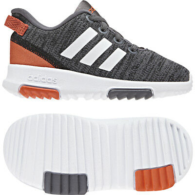 adidas Racer TR Infants Black White B75997 Running Trainers Size UK 4 - 9.5