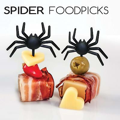 Wholesale lot 12 x Spider Food Picks Novelty Spooky Halloween Party Accessory