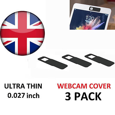 3X Webcam Cover Slider Camera Privacy Protect Sticker for Laptop Tablet Phone UK