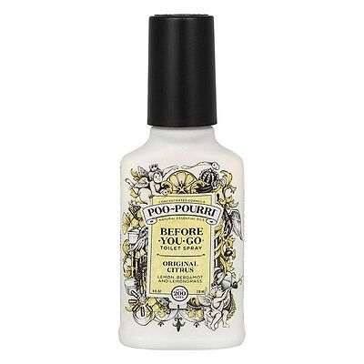 Poo Pourri Original Lemon 4oz 118ml Bottle - Before you Go Toilet Odour Spray
