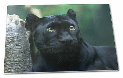 Black Panther Extra Large Toughened Glass Cutting, Chopping Board, AT-1GCBL