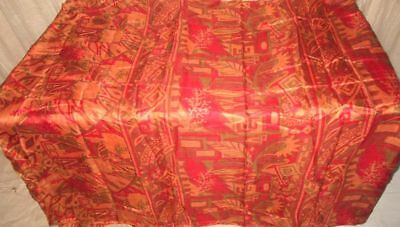 Multi-color Pure Silk 4 yard Vintage Sari Saree fast handling cutting Hot #9BFJ4