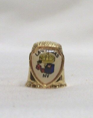 Las Vegas NV Gold Color Pewter Thimble