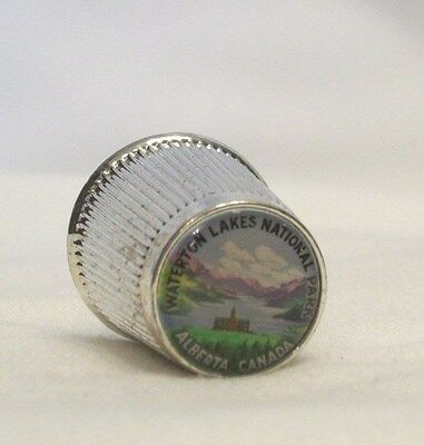 Waterton Lakes National Park Alberta Canada Pewter Thimble