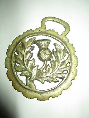 """Vintage Brass Bell Pull Thistle 3-1/2"""""""