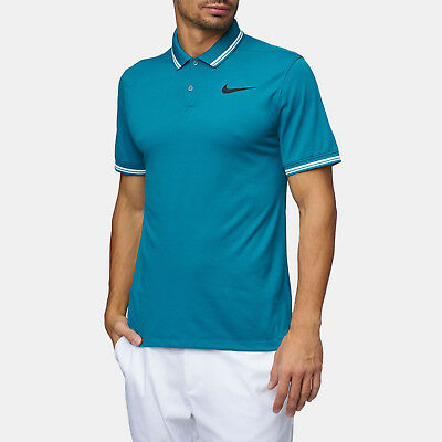 6844051c Nwt Men Nike Golf Dri Fit 833075 467 Tipped Modern Fit Teal Polo Select  Size $75