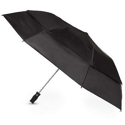 Totes Sport Golf Sized Vented Canopy Automatic Compact Umbrella Black - 7104