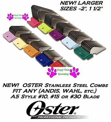 OSTER STAINLESS STEEL Blade Attachment GUIDE COMB Fit A5,A6,Many Andis Clippers