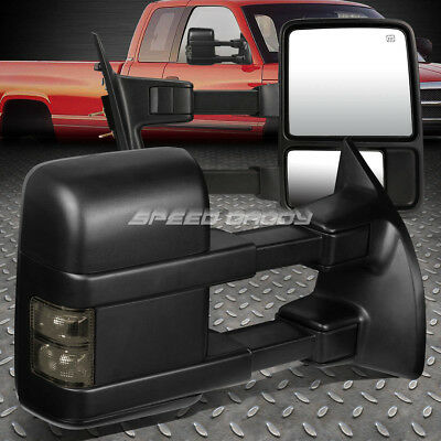 For 08-16 Ford F-Series Power+Heated+Smoked Signal Led Towing Side Mirror Pair