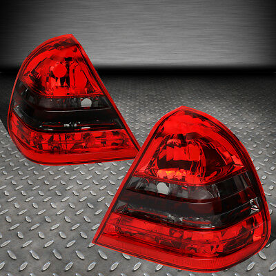 For 94-00 Mercedes C-Class W202 Pair Red Lens Tail Light Rear Brake/reverse Lamp