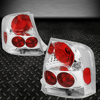 For 99-03 Mazda Protege Chrome Housing Tail Light Brake/parking/reverse Lamps