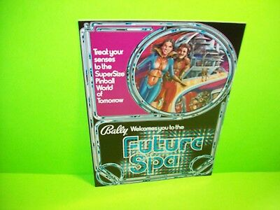 FUTURE SPA Pinball Machine Flyer Original 1979 BALLY Arcade Game Sci-Fi Artwork
