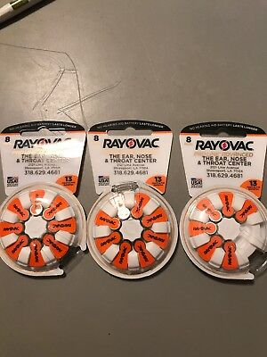 Rayovac Mercury Free Proline Advanced Size 13 Hearing Aid Batteries, Total of 22