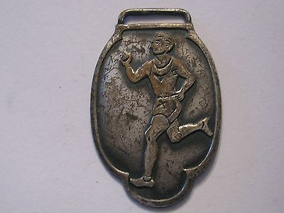 Vintage Track & Field Rumner Olympic Sport Armbanduhr Anhänger Medaille Quer