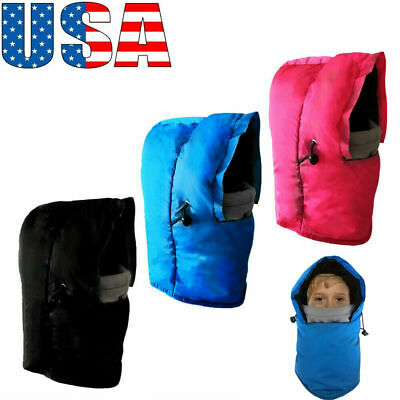 Face Mask Kids Youth Winter Warm Fleece Cold Weather One Hole Ski Snow Hood Hat