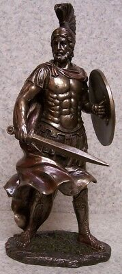 Figurine Statue Ancient Greece Leonidas King of Sparta NEW with gift box