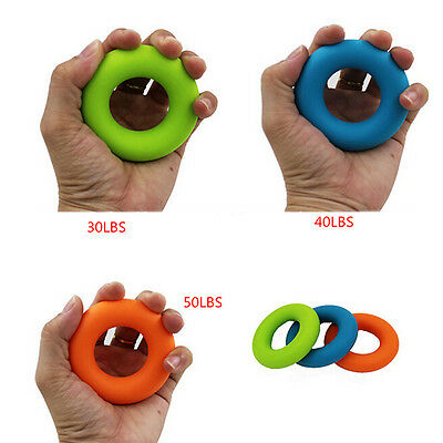 Strength Physical Exercise Hand Grip Rubber Ring For Muscle Power Training M&O