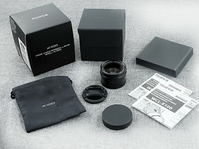 (US) // Fujifilm WCL-X100 Wide-Angle Conversion Lens Black // for X100 Camera